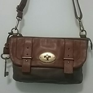 Authentic Fossil Buckle Chain Bag